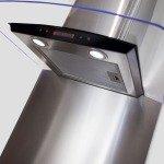 Curved Metal Splashbacks 600w x 750h-Stainless Steel
