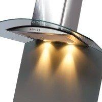 CDA Curved Glass Splashback 600w x 750h - Grey