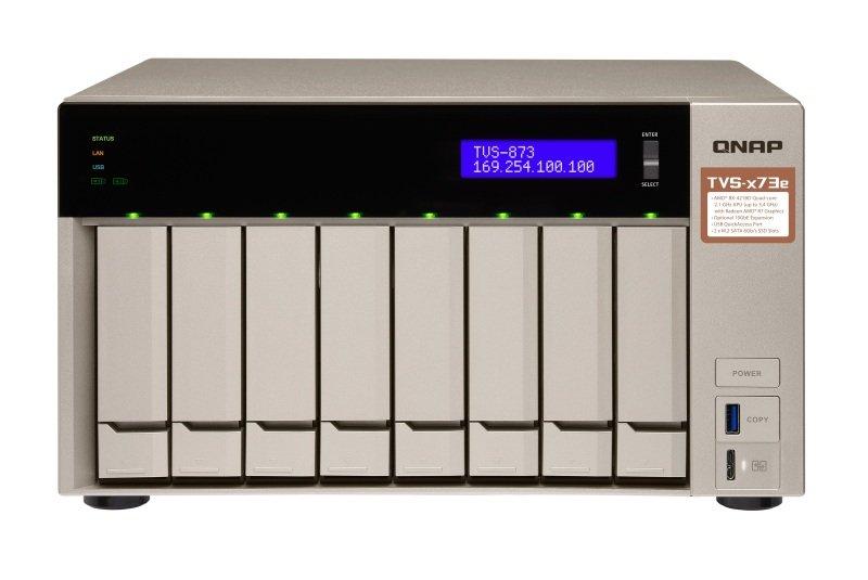 QNAP TVS-873e-4G 64TB (8 x 8TB SGT-IW) 8 Bay NAS with 4GB RAM