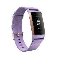 Fitbit Charge 3 Special Edition, Health and Fitness Tracker Purple Woven Fitness Band