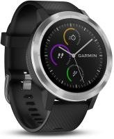 Garmin Vivoactive 3 GPS Smartwatch With Wrist Heart Rate Tracker -  Black Silicone Stainless Steel