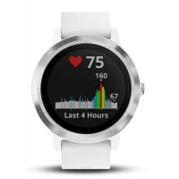 Garmin Vivoactive 3 GPS Smartwatch With Wrist Heart Rate Tracker - White Silicone Stainless Steel