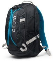 DICOTA Backpack Active 15.6 Laptop Bag Black/Blue