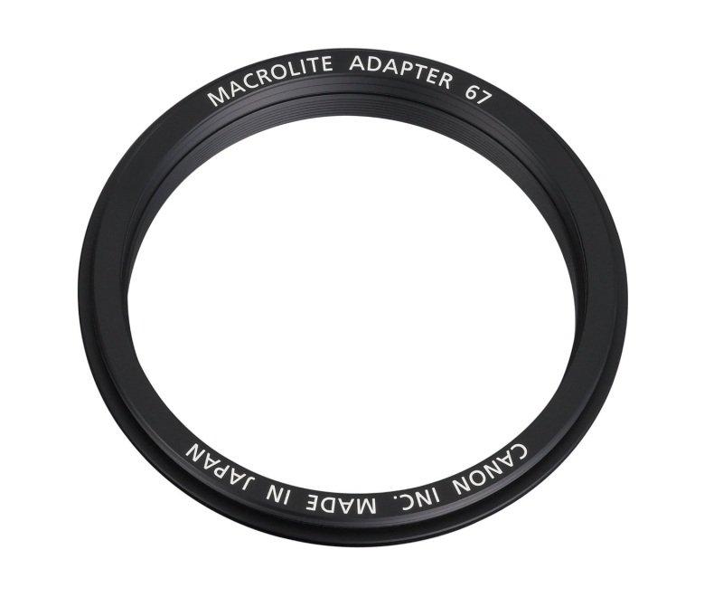 Canon ML-67 Macrolite Ring Flash Adapter for 67mm Filter Thread Lenses