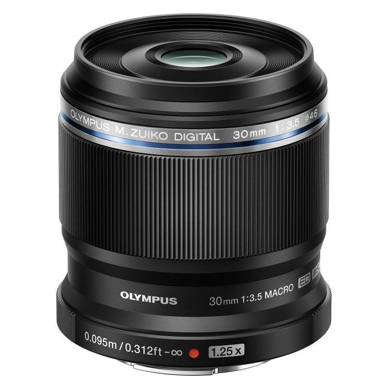 Olympus M.Zuiko Digital ED 30mm 1:3.5 / EM-M3035 Macro Lens - Black