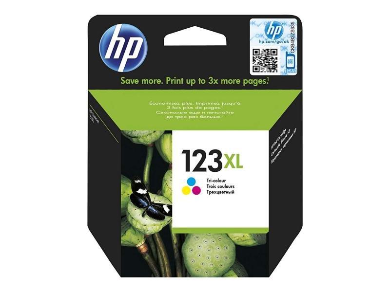 HP Ink 123XL Tri-Colour Standard Yield Cartridge - F6V18AE
