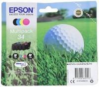 Epson Ink/34 Golf Ball CMYK, Cyan, Magenta, Yellow, Black Multi-pack - C13T34664010