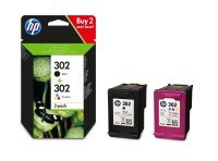HP 302 2-pack Original Ink Cartridges Black/Tri-color - F6U65AE+F6U66AE