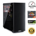 £979.98, Chillblast Onslaught Extreme 1070Ti Gaming PC, AMD Ryzen 5 1600 3.2GHz, 16GB, 1TB HDD, 240GB SSD, NVIDIA GTX 1070Ti 8GB, WIFI + Windows 10 Home 64bit, 5 Year Warranty,