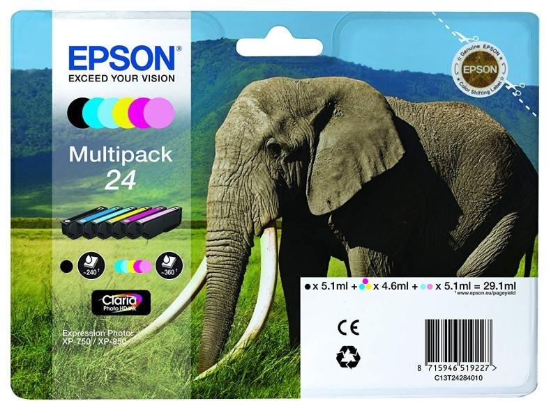 Epson Claria 24 Elephant Multi-pack Ink Cartridge PhotoHD - C13T24284021