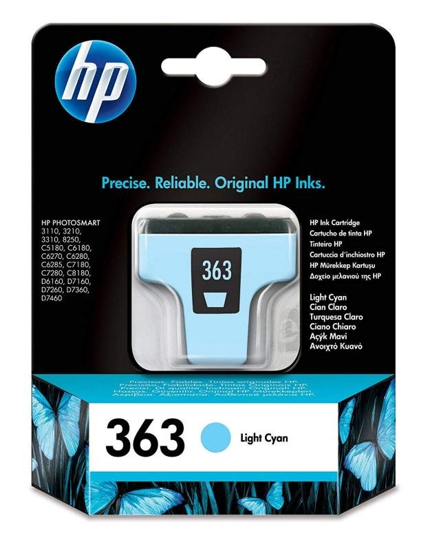 HP 363 Ink Standard Yield Ink Cartridge Light Cyan Original - C8774EE