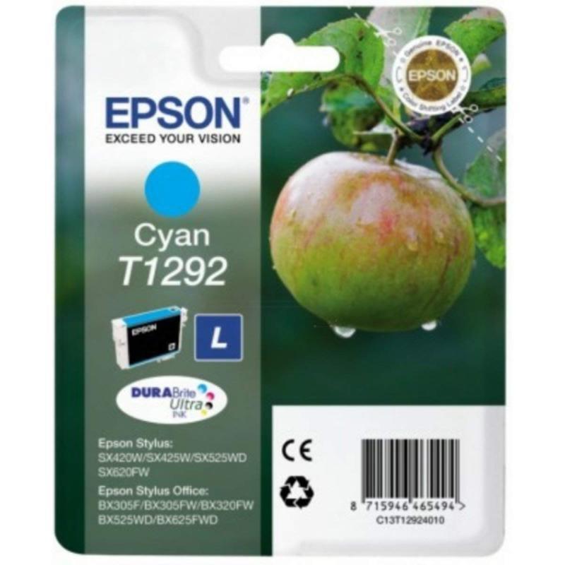 Epson Ink/T1292 Apple 7ml Cyan Ink Cartridge - C13T12924022