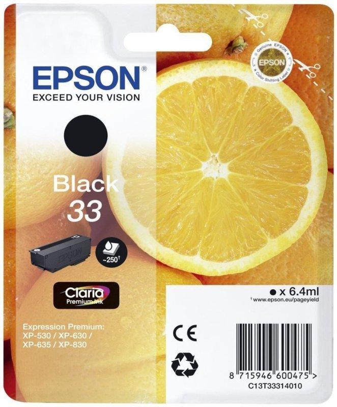 Epson Ink/33 Oranges 6.4ml Black - C13T33314022
