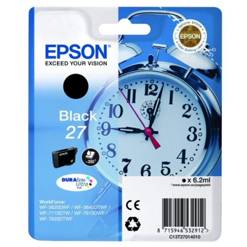 Epson Ink/27 Alarm Clock 6.2ml Black - C13T27014022