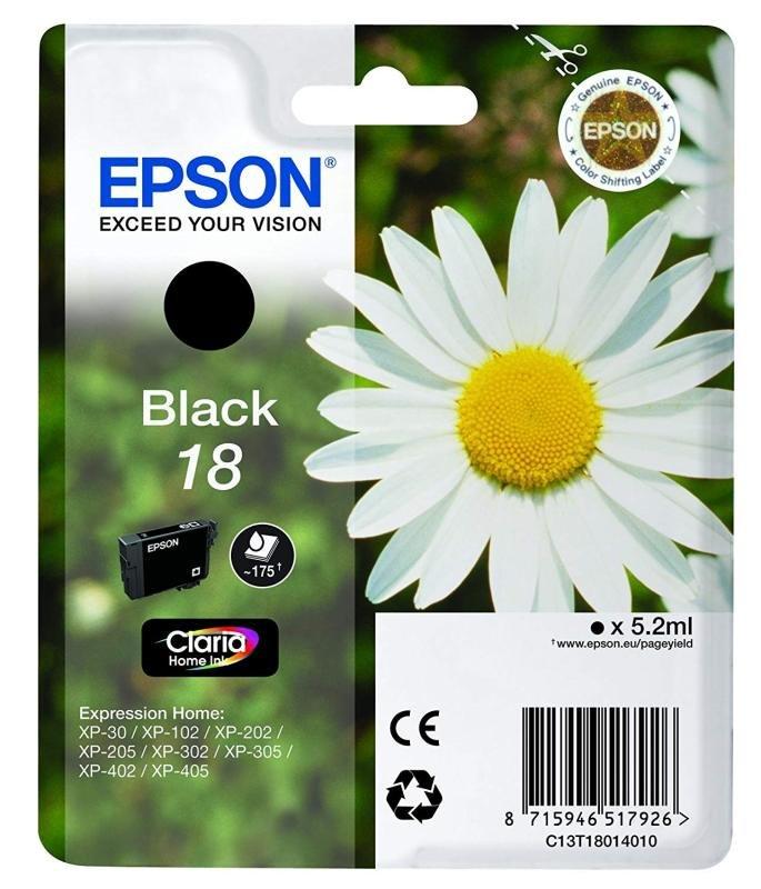 Epson Ink/18 Daisy 5.2ml Black - C13T18014022