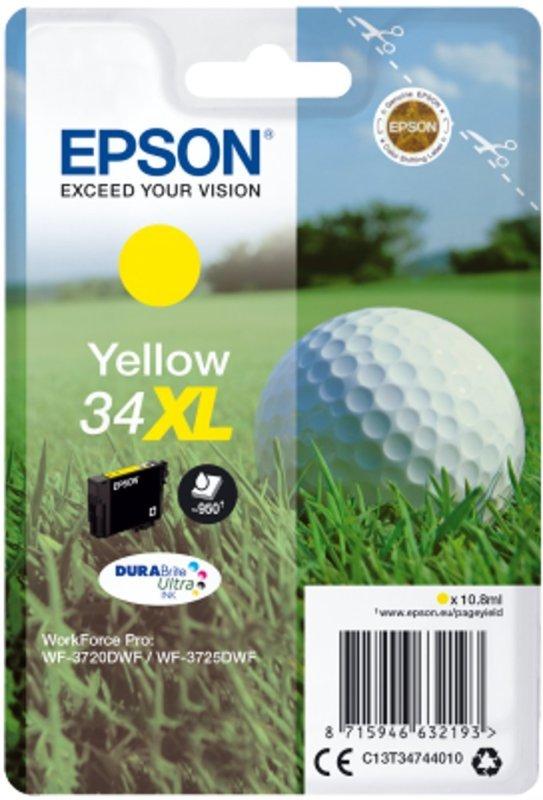 Epson Ink/34XL Golf Ball 10.8ml  High Yield Cartridge Yellow - C13T34744020