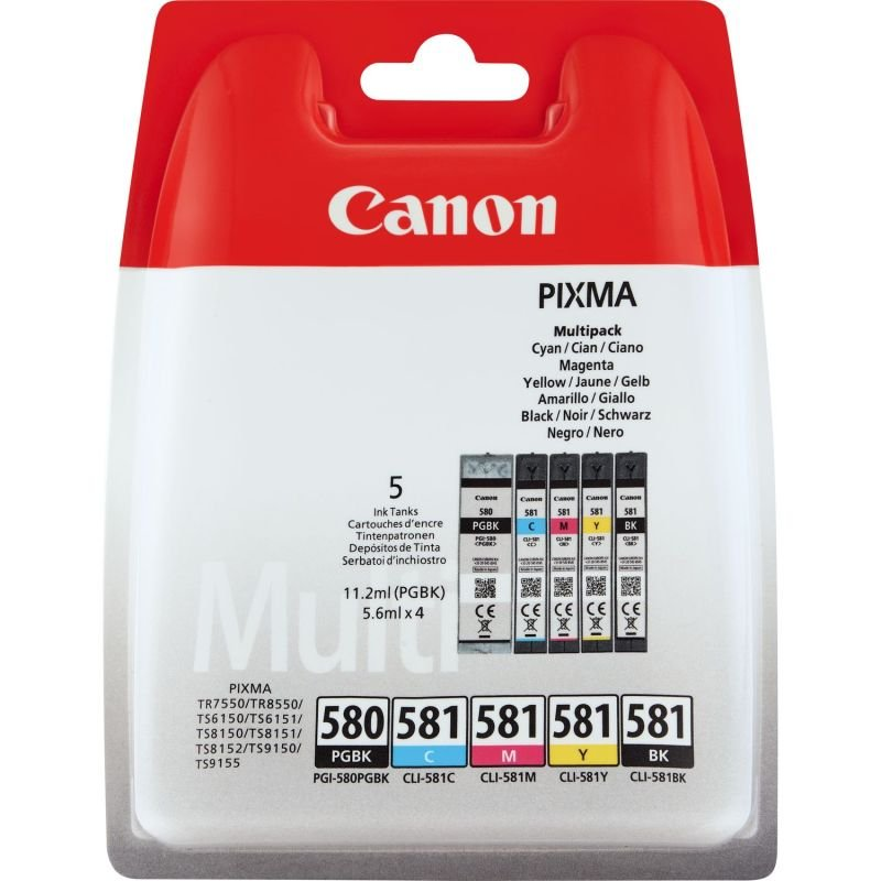 Canon Ink/PGI-580/CLI-581 Cartridge - CMYK - 2078C005