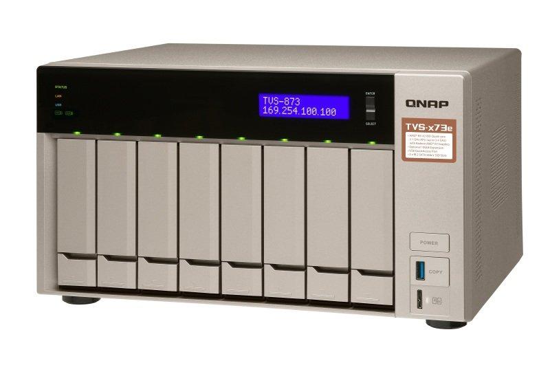 QNAP TVS-873e-8G 64TB (8 x 8TB SGT-IW) 8 Bay NAS with 8GB RAM