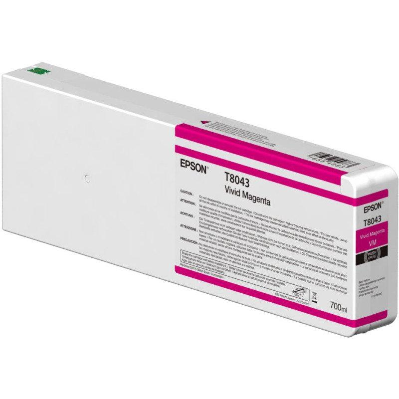Epson InkCart/T804300 UltraChrome 350ml Tank, Vivid Magenta - C13T804300