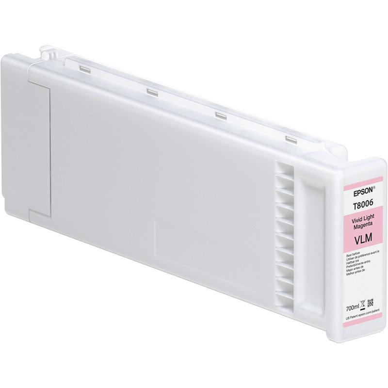 Epson Ink Cart/T800600 UltraChromePRO 700ml Tank, Vivid Light Magenta  - C13T800600