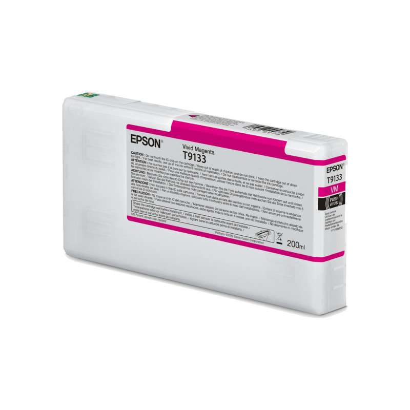 Epson Ink/T9133 UltraChrome HDR 200ml Cartridge, Vivid Magenta - C13T913300