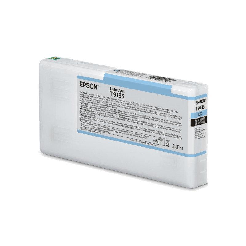 Epson Ink Cart/T9135 UltraChrome HDR 200ml Cartridge, Light Cyan - C13T913500