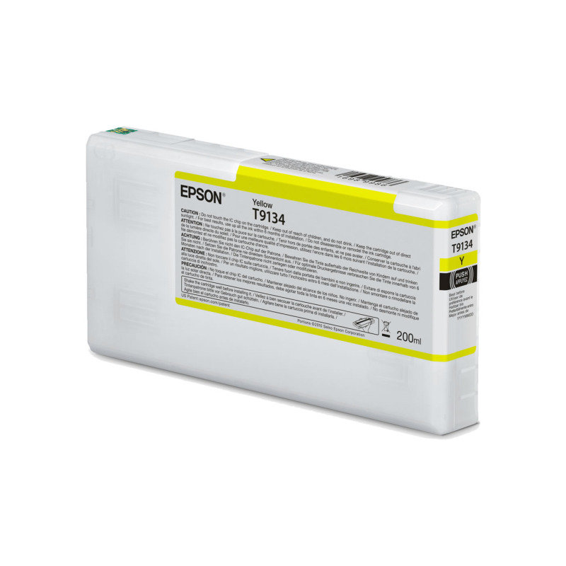 Epson Ink Cart/T9134 UltraChrome HDR 200ml Cartridge, Yellow - C13T913400