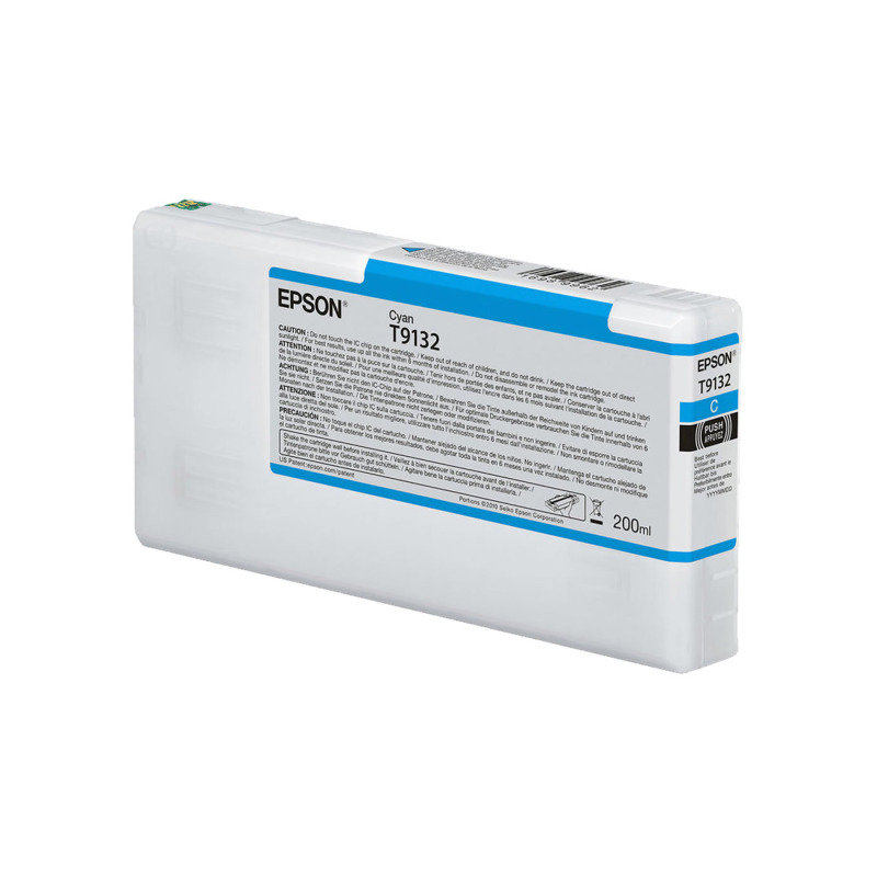 Epson Ink Cart/T9132 UltraChrome HDR 200ml Cartridge, Cyan - C13T913200