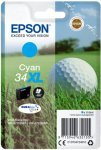 Epson Ink/34XL Golf Ball 10.8ml 900 Page Yield, Cyan - C13T34724010