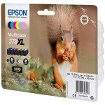 Epson Ink/378XL Squirrel 830 Page Yield, CLcMLmYK - C13T37984010