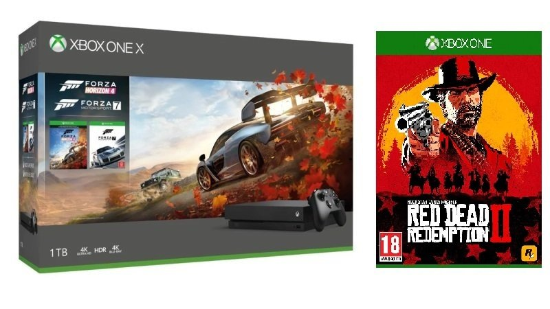 Xbox One X 1TB with Forza Horizon 4 + Forza 7 + Red Dead Redemption 2...