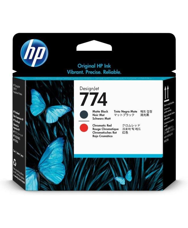 HP 774 Matte Black/Chromatic Red Print head - P2V97A