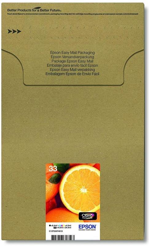 Epson Ink/33 Premium Oranges Ink Cartridge MultiPack Black, Cyan, Magenta, Yellow