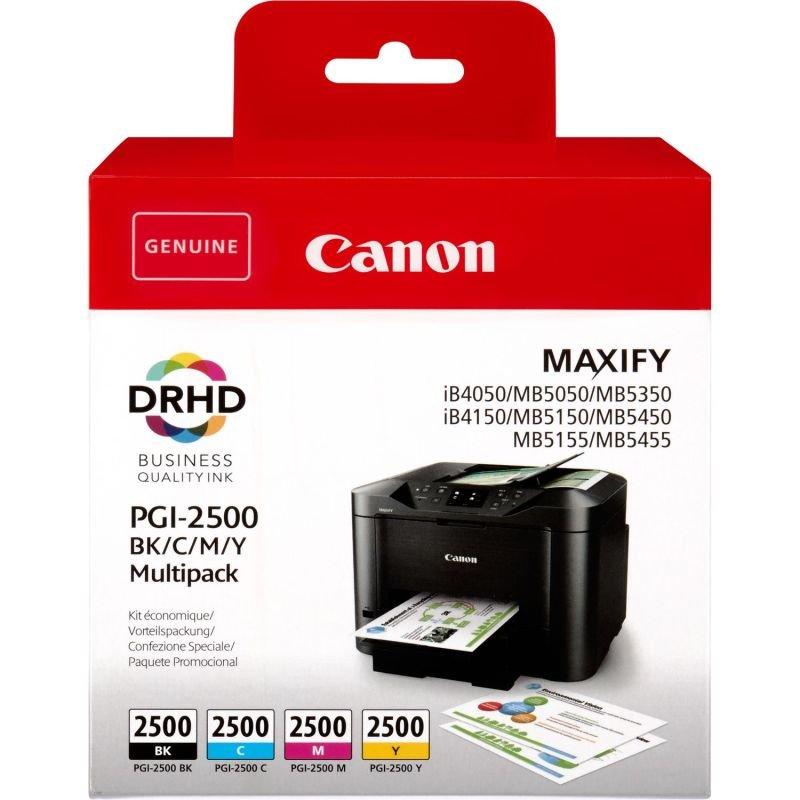 Canon Ink/PGI-2500 Cartridge Cyan, Magenta, Yellow, Black - 9290B004