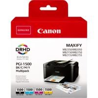 Canon Ink/PGI-1500 Cartridge Cyan, Magenta, Yellow, Black - 9218B005