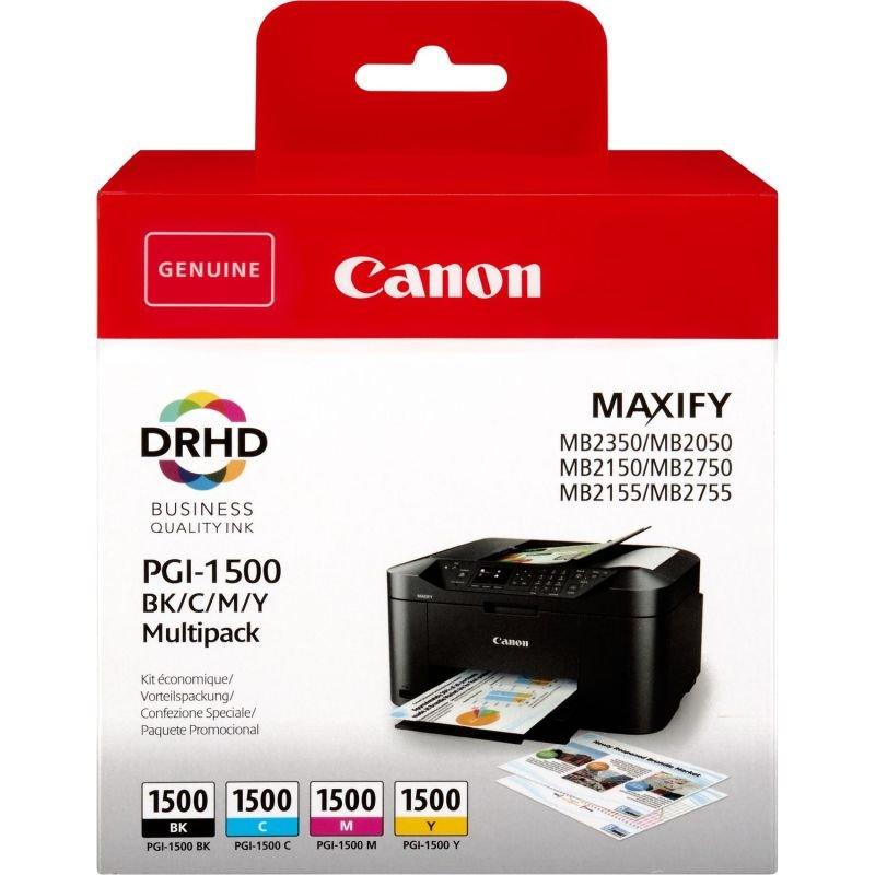 Canon Ink/PGI-1500 Cartridge Cyan, Magenta, Yellow, Black - 9218B005