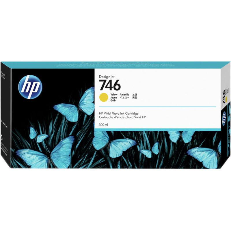 HP 746 Yellow OriginalDesignjet Ink Cartridge - Standard Yield 300ml - P2V79A