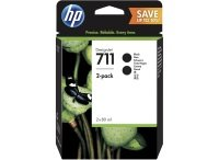 HP 711 Black Original, Multi-pack Ink Cartridge - Extra High Yield	2 x 80ml - P2V31A