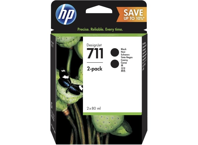 Genuine HP 711 28ml Multipack, Black - P2V31A