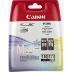 Canon PG-510/CL-511 Multi-Pack - Black & Tri-Colour - 2970B011