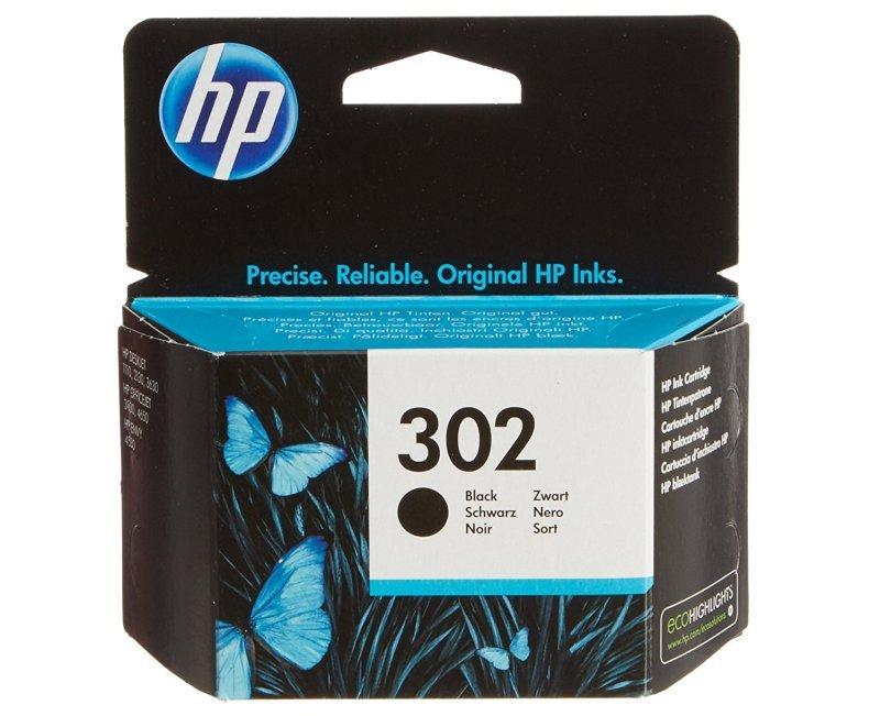 HP Ink/302 Cartridge Black - F6U66AE