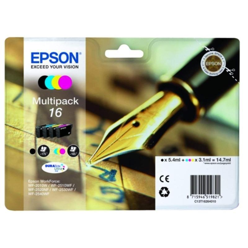Epson Ink/16 WorkForce Cartridge, Cyan, Magenta, Yellow, Black - C13T16264022