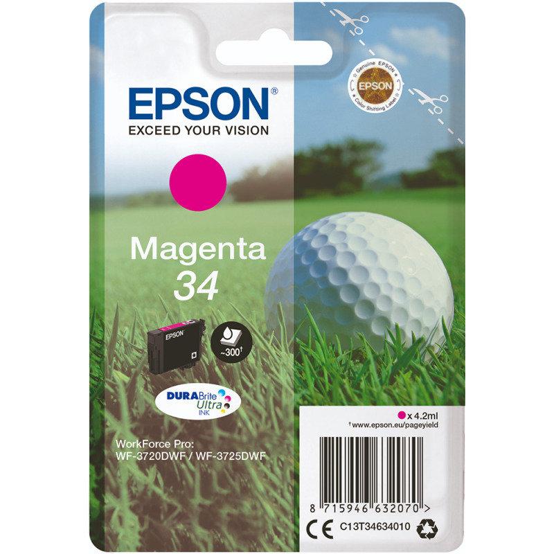 Ink/34 Golf Ball 4.2ml Cartridge, Magenta - C13T34634010