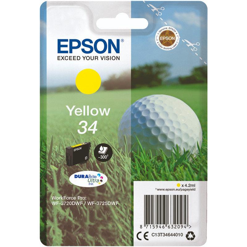 Epson Ink/34 Golf Ball 4.2ml Cartridge, Yellow - C13T34644010