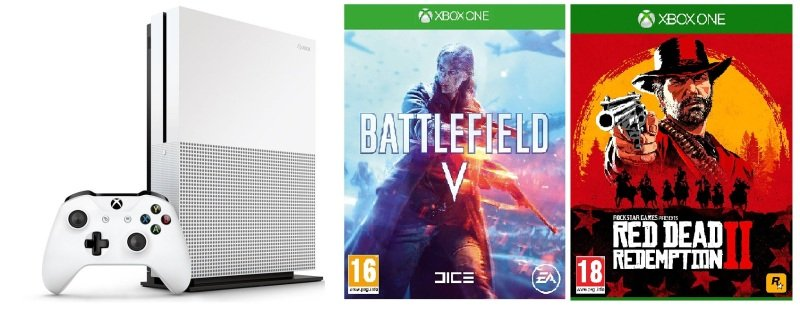 Xbox One S 1TB with Battlefield V + Red Dead Redemption 2