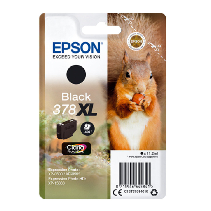 Epson 378XL Black Photo HD Inkjet Cartridge