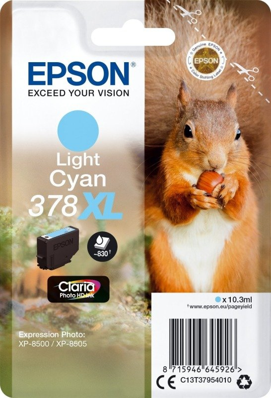 Epson 378XL Light Cyan Photo HD Inkjet Cartridge