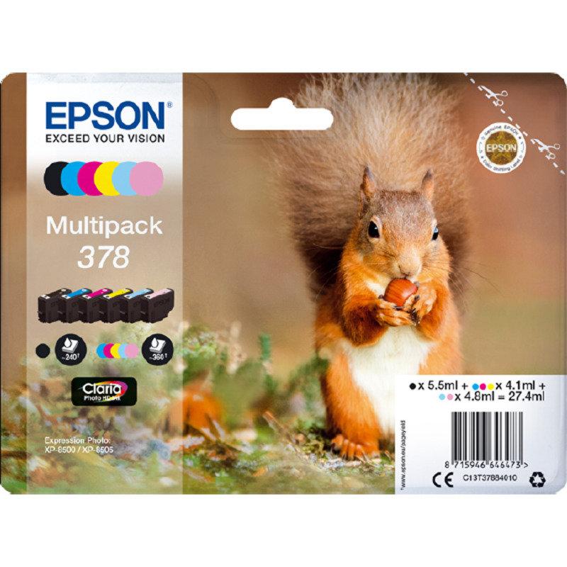 Epson 378 Photo HD Inkjet Cartridge (Pack of 6)