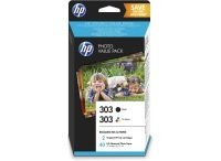 HP 303 Multi-pack 1x Black, 1x Tri-Colour OriginalInk Cartridge - Standard Yield 200 Pages/165 Pages - Z4B62EE