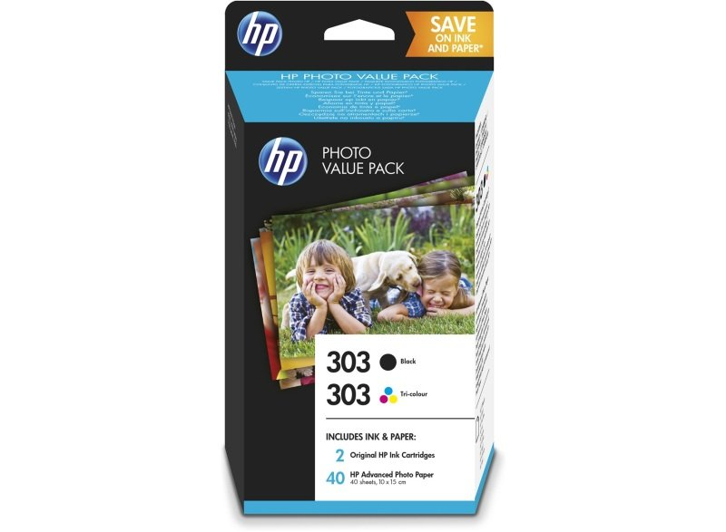 HP 303 Multi-pack 1x Black, 1x Tri-Colour Original Ink Cartridge - Standard Yield 200 Pages/165 Pages - Z4B62EE